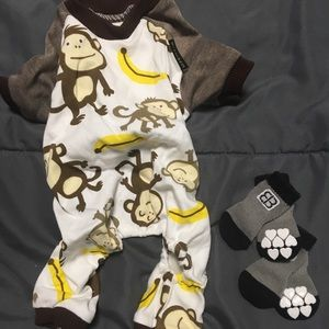 Other - Small Dog PJs and Indoor Socks